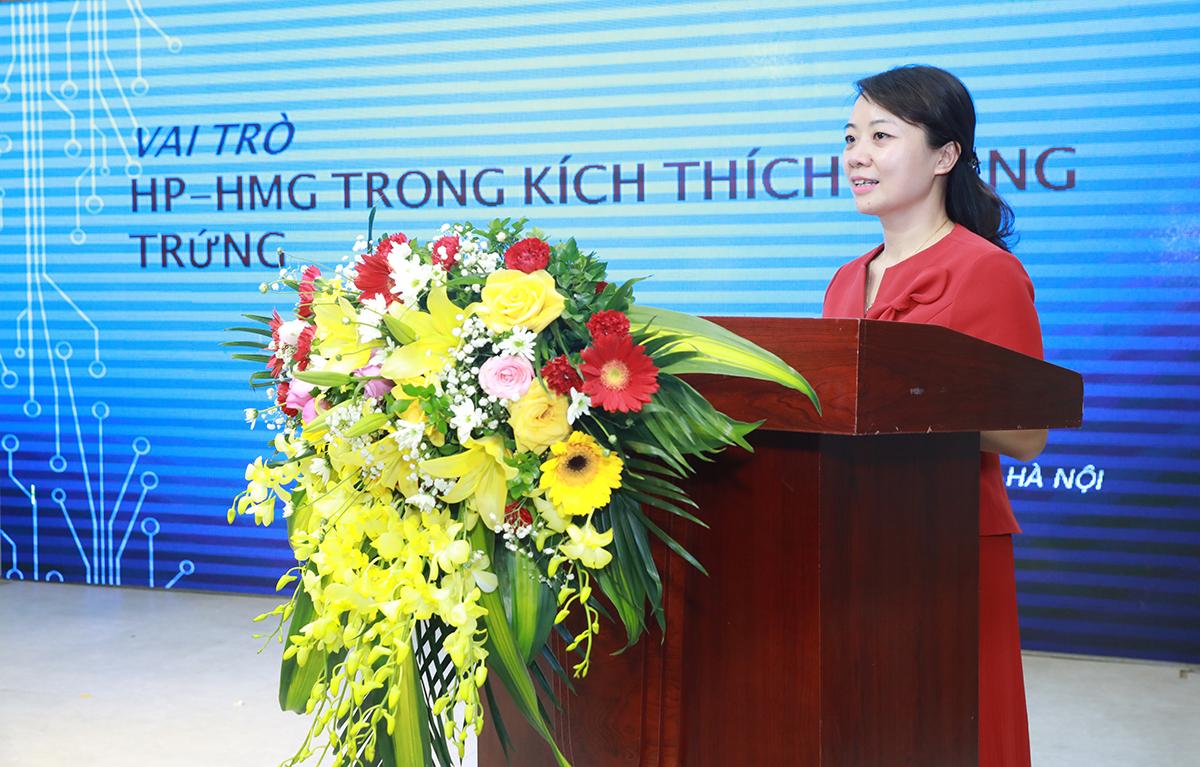 Ths.BS. Lê Thị Thu Hiền phát biểu tại hội thảo